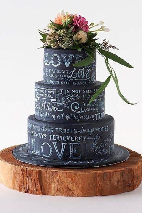 chalkboard-bolo-de-casamento-tendencia-que-imita-um-quadro-preto-450x675
